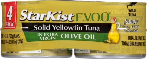 StarKist Selects Solid Yellowfin Tuna in Extra Virgin Olive Oil Perspective: front