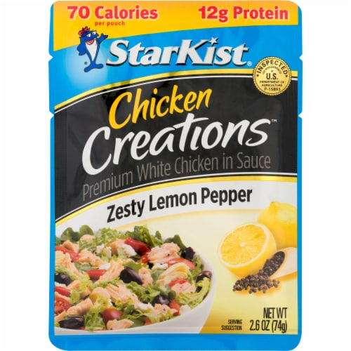 StarKist Chicken Creations Zesty Lemon Pepper Chicken in Sauce Perspective: front