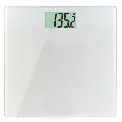 Health-O-Meter Glass Weight-Tracking Scale - Silver Perspective: front