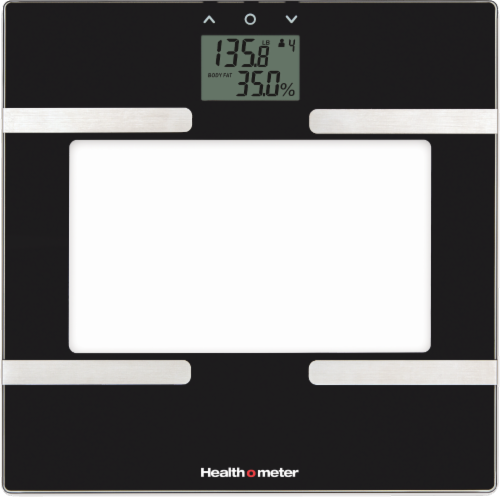 Health o meter® Body Fat Analysis Glass Scale - Black Perspective: front