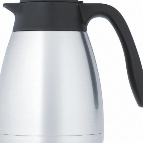 Thermos Vacuum Insulated Carafe,Lever Lid,34 oz  TGS10SC Perspective: front