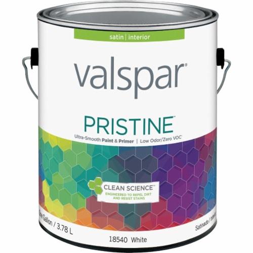 Valspar Int Satin White Paint 027.0018540.007 Perspective: front