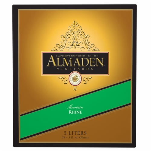 Almaden Mountain Rhine Boxed Red Wine Perspective: front