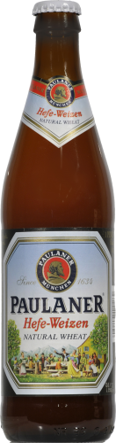 Paulaner Hefe-Weizen Beer Perspective: front