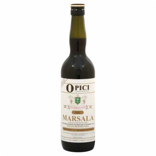 Opici Dry Marsala Italian Dessert Wine Perspective: front