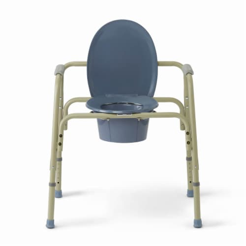 Medline Extra Sturdy Bariatric Commode Perspective: front