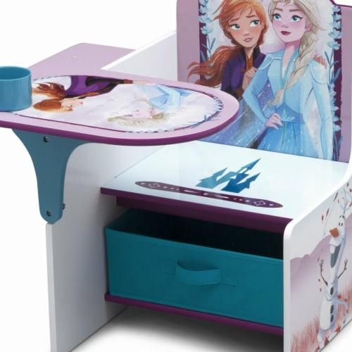 Delta Children Disney Frozen II Chair Desk with Storage Bin Perspective: front