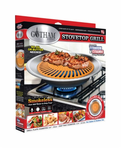 Gotham Steel Cerama Non-Stick Stove Top Indoor Grill Perspective: front