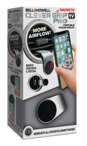 Bell and Howell Clever Grip Pro Portable Magnetic Phone Mount Perspective: front