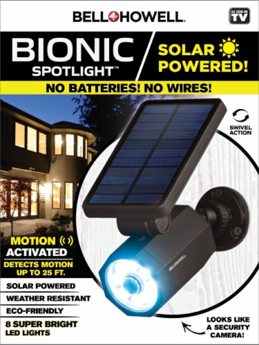 Bell and Howell Solar Bionic Spotlight Perspective: front