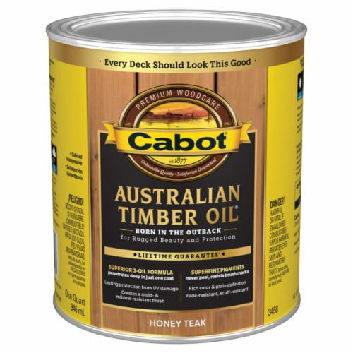 Cabot® Honey Teak Australian Timber Oil Stain Perspective: front