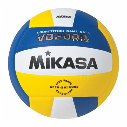 Mikasa 2019896 Volleyball NFHS Approved Volleyball, Royal, Gold & White - Size 5 Perspective: front