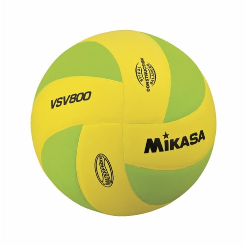 Mikasa Sports 1569078 Soft Cover Squish Volleyball, Yellow & Green Perspective: front