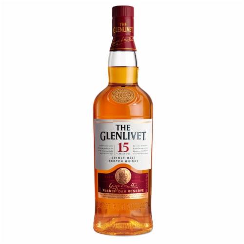 The Glenlivet 15 Year French Oak Reserve Single Malt Scotch Whisky Perspective: front