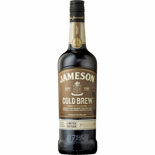 Jameson Cold Brew Coffee Flavor Irish Whiskey Perspective: front