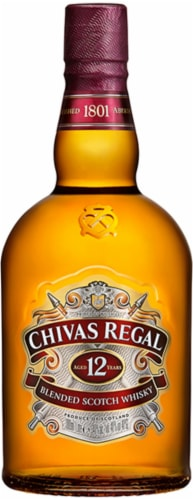 Chivas Regal 12 Year Blended Scotch Whisky Perspective: front