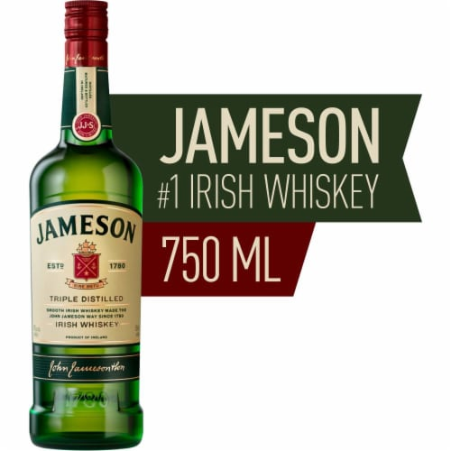 Jameson Blended Irish Whiskey Perspective: front