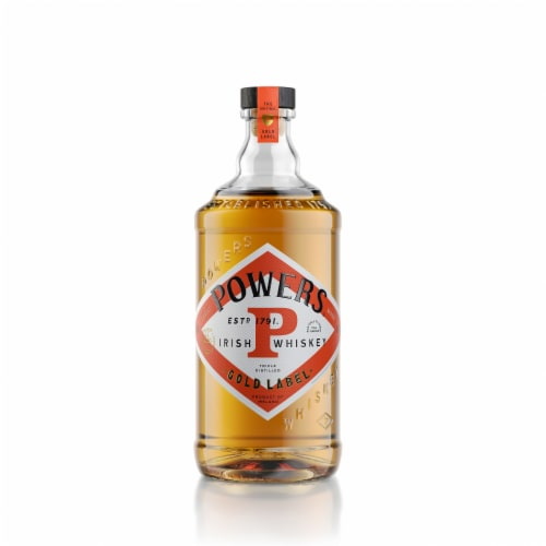 Powers Gold Label Blended Irish Whiskey Perspective: front