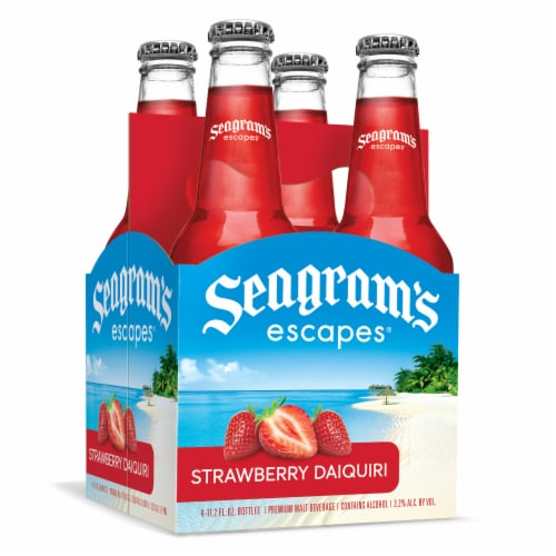 Seagram's Escapes Strawberry Daiquiri Flavored Malt Beverage Perspective: front