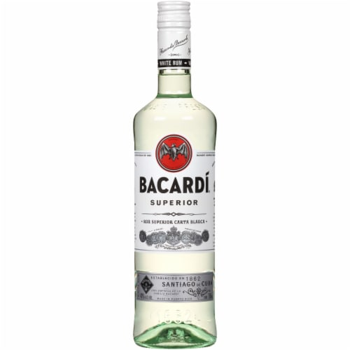 Bacardi Superior Puerto Rican White Rum Perspective: front