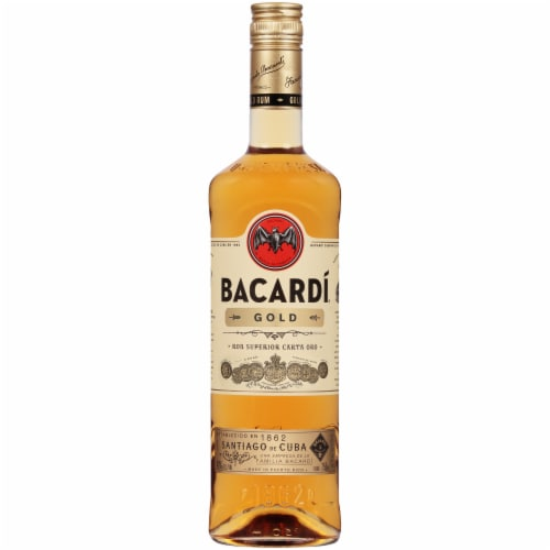 Bacardi Gold Puerto Rican Rum Perspective: front