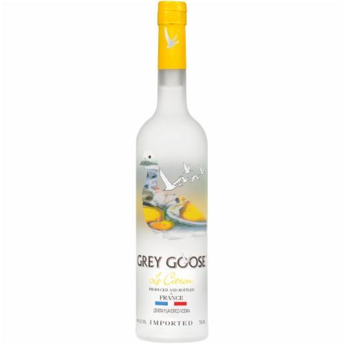 Grey Goose Le Citron Vodka Perspective: front