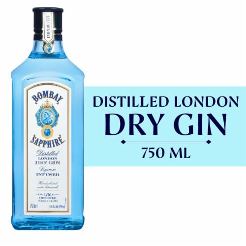 Bombay Sapphire London Dry Gin Perspective: front