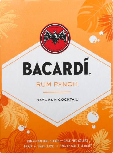 Bacardi Rum Punch Real Rum Cocktail Perspective: front