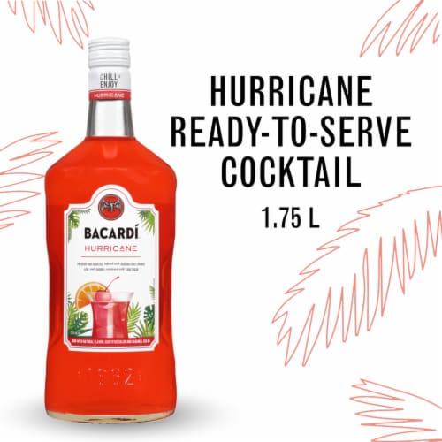 Bacardi Hurricane Premium Rum Cocktail Perspective: front