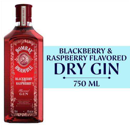 Bombay Bramble Blackberry & Raspberry Flavored Gin Perspective: front