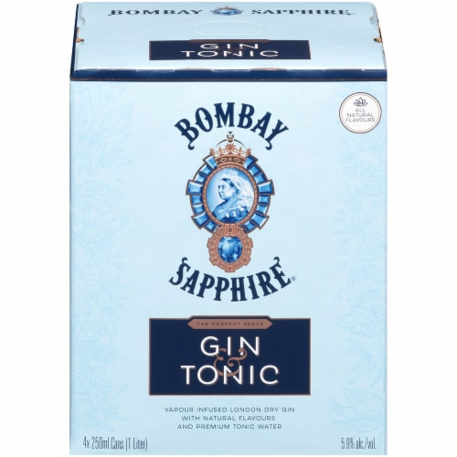 Bombay Sapphire Gin & Tonic Perspective: front