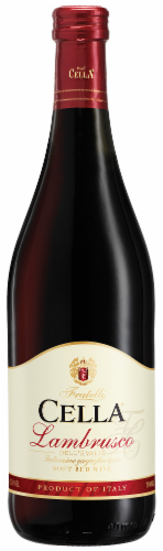 Cella Lambrusco Soft Red Wine Perspective: front