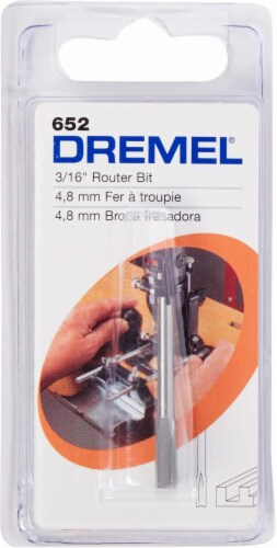Dremel 0.187-Inch Straight Router Bit Perspective: front