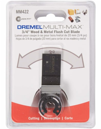 Dremel Multi-Max Wood and Metal Flush Cut Blade Perspective: front
