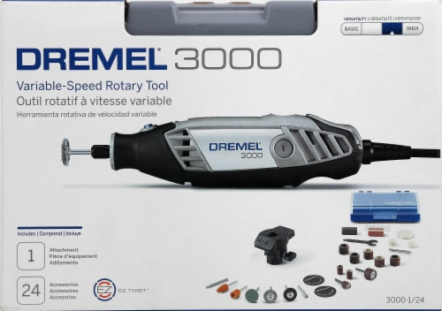 Dremel 3000 Variable-Speed Rotary Tool Kit Perspective: front