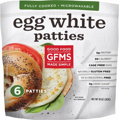 Good Food Made Simple Egg White Patties Perspective: front