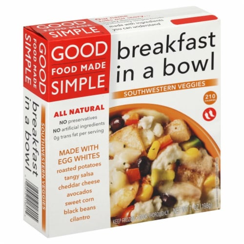Good Food Made Simple Southwestern Veggies Breakfast Bowl Perspective: front