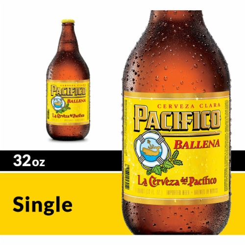 Pacifico Ballena Imported Beer Perspective: front