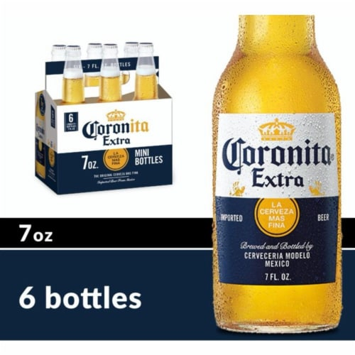 Corona Coronita Extra Imported Beer 6 Bottles Perspective: front