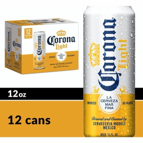 Corona® Light Lager Beer Perspective: front