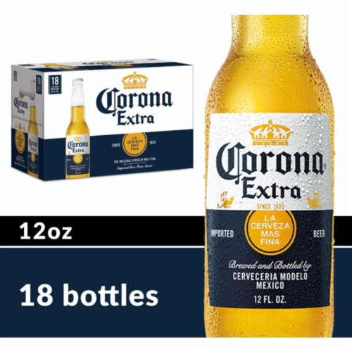 Corona® Extra Lager Beer Perspective: front