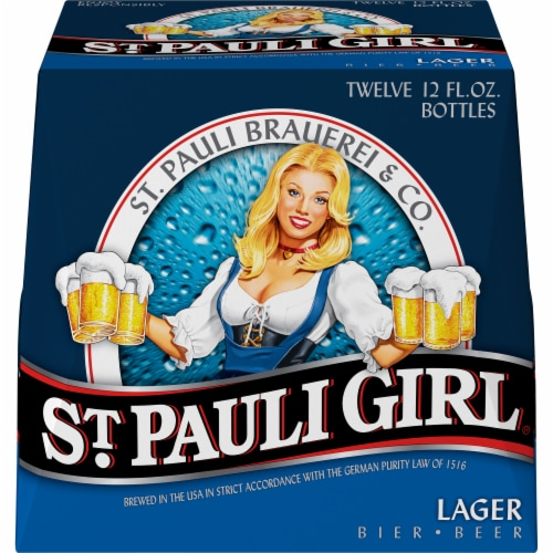 St. Pauli Girl Lager Beer Perspective: front