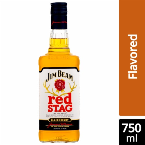 Jim Beam Red Stag Black Cherry Kentucky Straight Bourbon Whiskey Perspective: front
