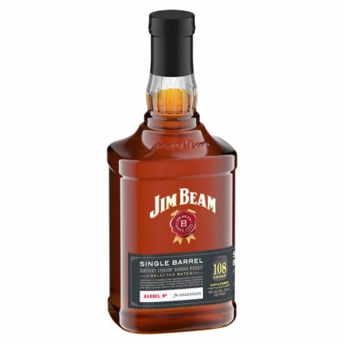 Jim Beam Single Barrel Kentucky Straight Bourbon Whiskey Perspective: front