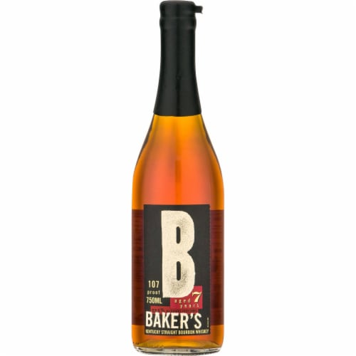 Baker's 7 Year 107 Proof Kentucky Straight Bourbon Whiskey Perspective: front