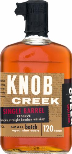 Knob Creek Single Barrel Reserve 9 Year Kentucky Straight Bourbon Whiskey Perspective: front
