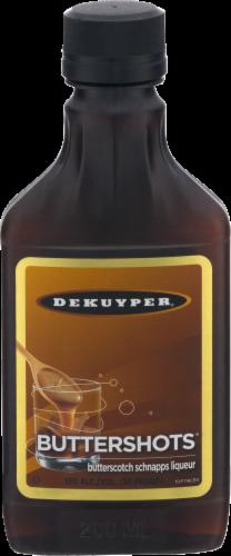 DeKuyper Buttershots Butterscotch Schnapps Liqueur Perspective: front