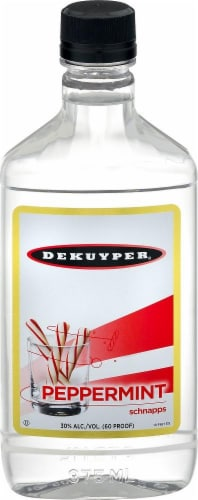 DeKuyper Peppermint Schnapps Liqueur Perspective: front