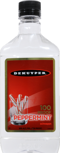 DeKuyper Peppermint Schnapps Liqueur 100 Proof Perspective: front