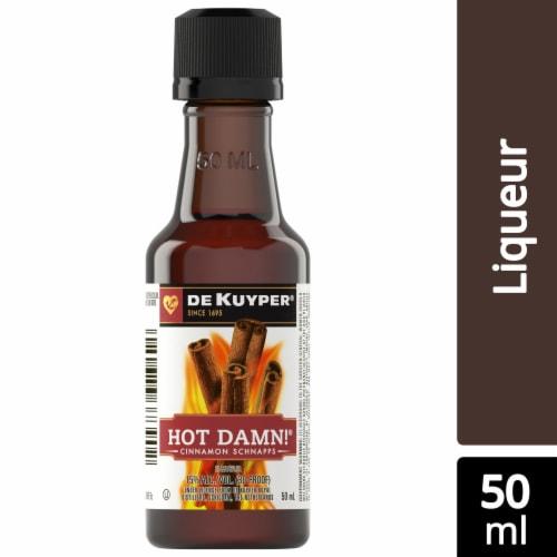 DeKuyper Hot Damn! Cinnamon Schnapps Liqueur Perspective: front
